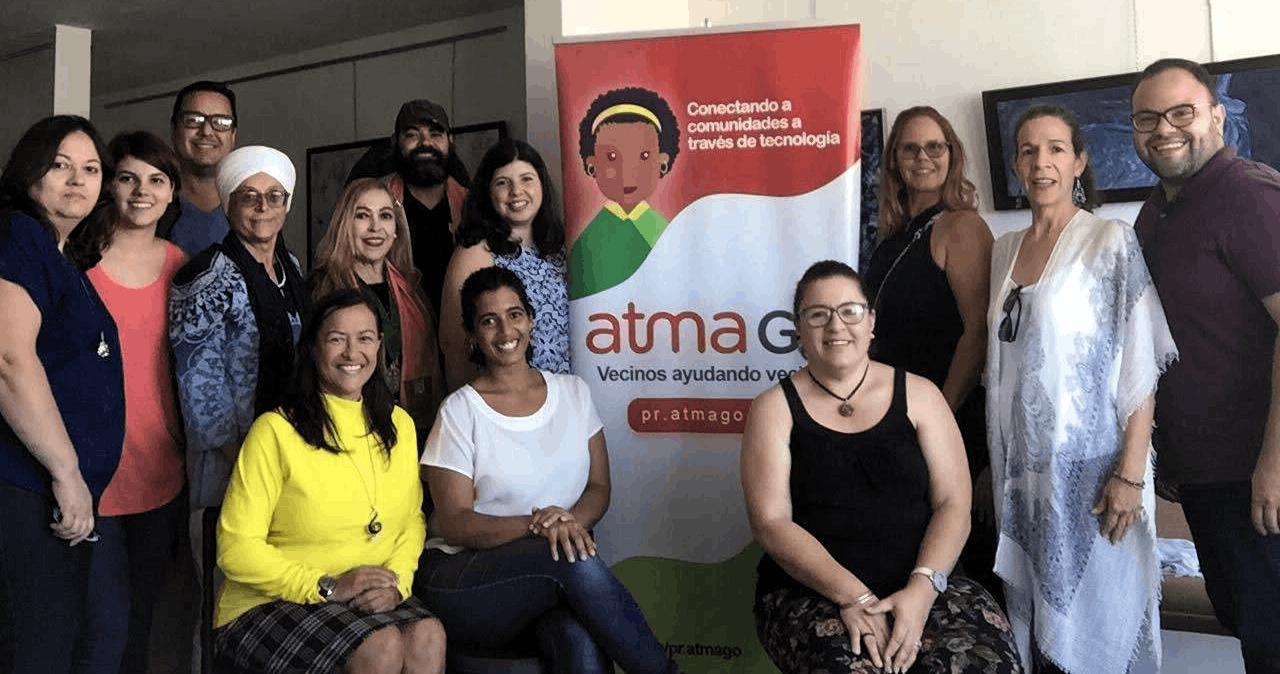 Participants in Atma Connect's first Citizen Journalism workshop held in Arecibo, Puerto Rico.